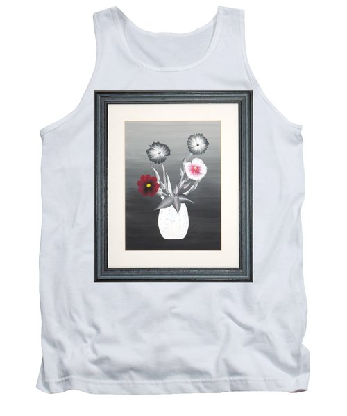 Faux Flowers II Tank Top