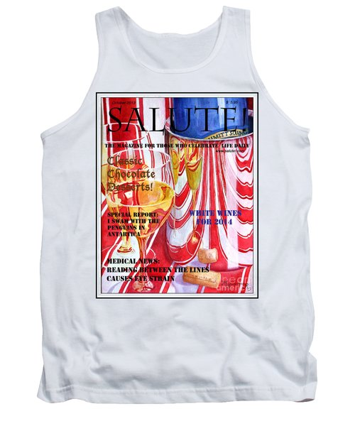 Tank Top featuring the painting Faux Magazine Cover by Mariarosa Rockefeller