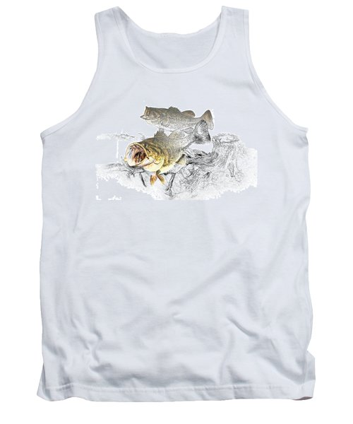 Feeding Largemouth Black Bass Tank Top by Randall Nyhof
