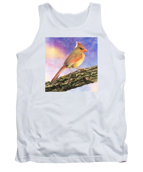 Female Cardinal Away From Sun Tank Top by Janette Boyd