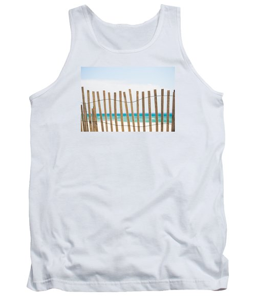 Fence On The Beach Tank Top by Shelby  Young