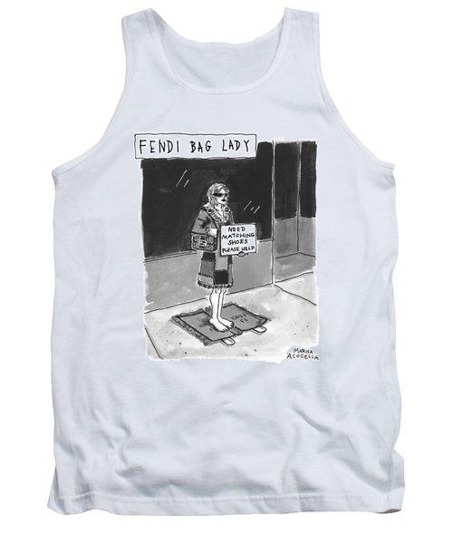 'fendi Bag Lady' Tank Top