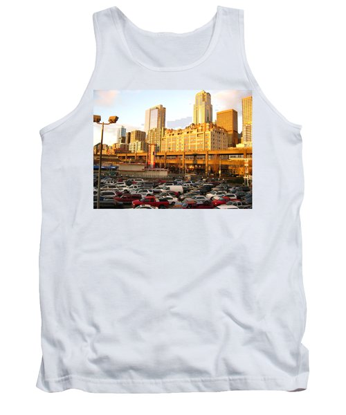 Ferry Lines At Sunset Tank Top by David Trotter