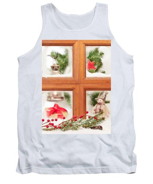 Festive Christmas Window Tank Top