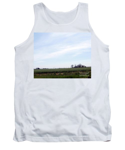 Tank Top featuring the photograph Fields Of Source by Bobbee Rickard