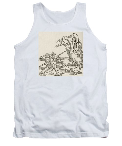 Fight Between Pygmies And Cranes. A Story From Greek Mythology Tank Top