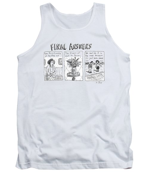 Final Answers Features Three Panels Portraying Tank Top