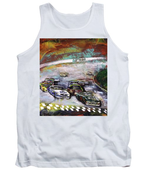 Finish Line Tank Top by Gray  Artus