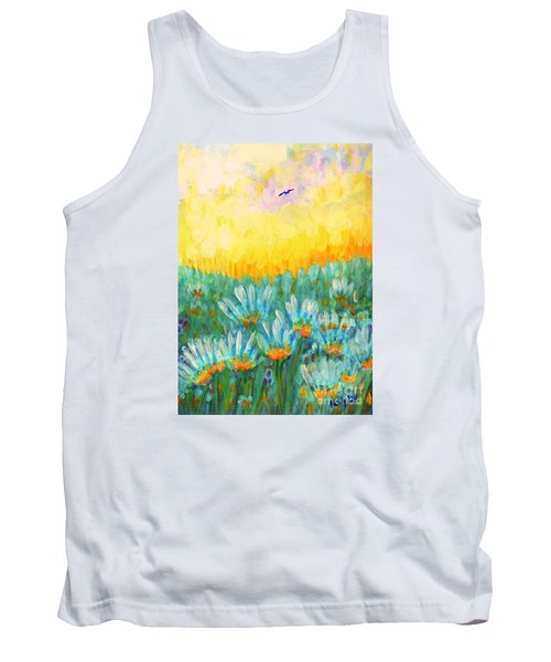 Tank Top featuring the painting Firelight by Holly Carmichael
