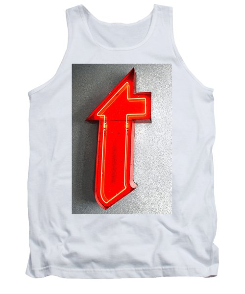 Firestone Building Red Neon T Tank Top by Catherine Sherman