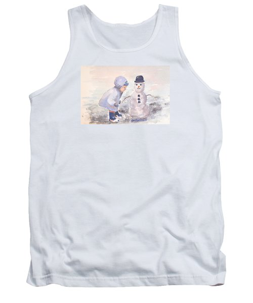 First Snowman Tank Top by Genevieve Brown