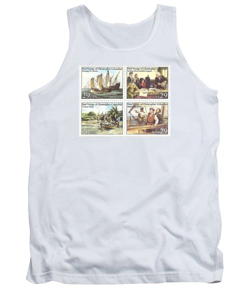 First Voyage Of Christopher Columbus Commemorative Stamp Block Tank Top