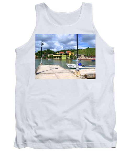 Fishing Village Puerto Rico Tank Top