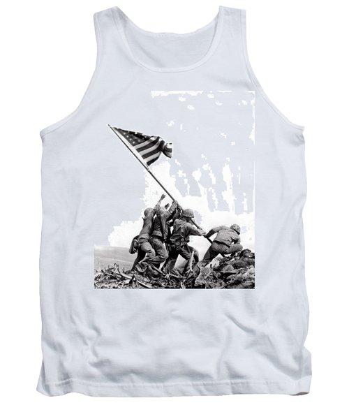 Flag Raising At Iwo Jima Tank Top