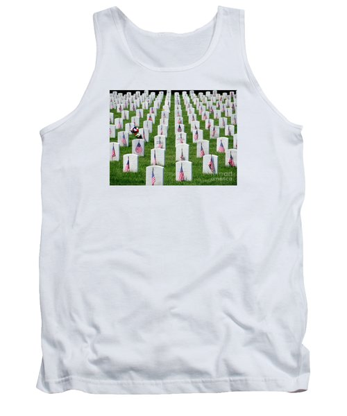Tank Top featuring the photograph Flags Of Honor by Ed Weidman