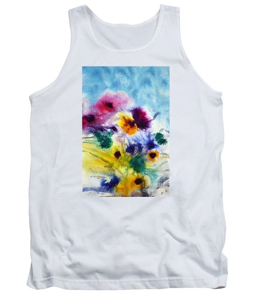 Tank Top featuring the painting Fleurs by Joan Hartenstein