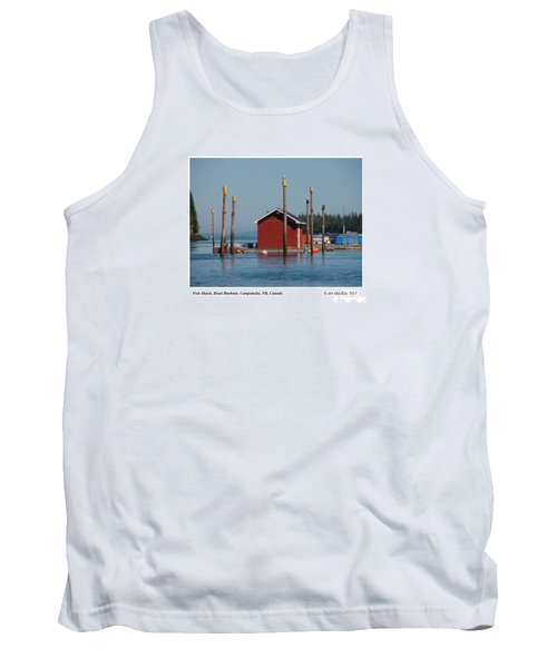 Floating Fish Shack Bay Of Fundy Nb Tank Top