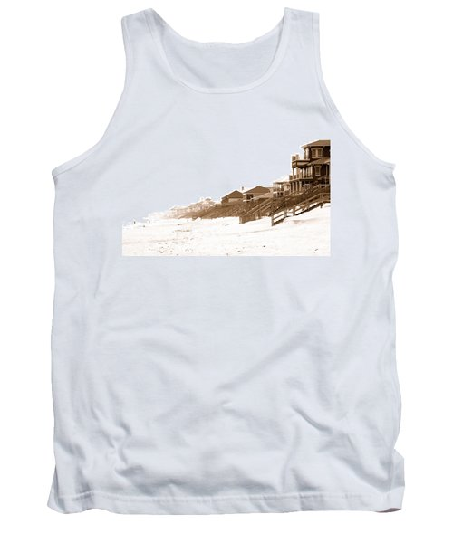 Florida Beach Sepia Print Tank Top