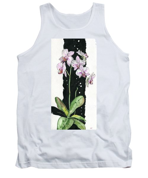 Tank Top featuring the painting Flower Orchid 02 Elena Yakubovich by Elena Yakubovich