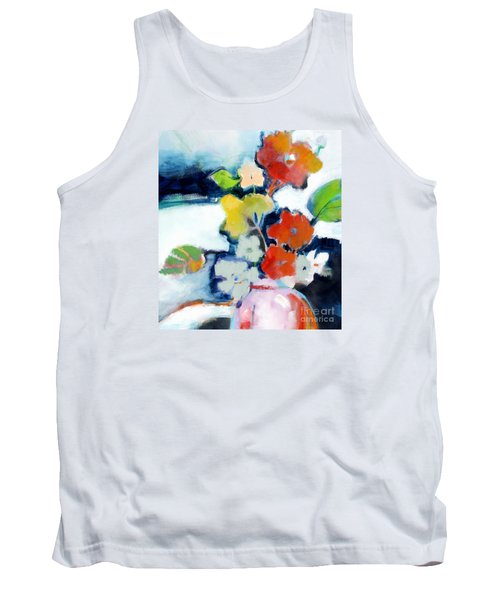 Tank Top featuring the painting Flower Vase No.1 by Michelle Abrams