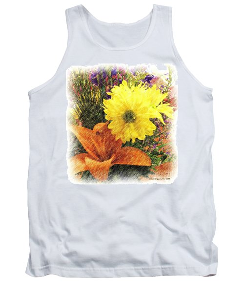Tank Top featuring the photograph Flowers With Love by Luther Fine Art