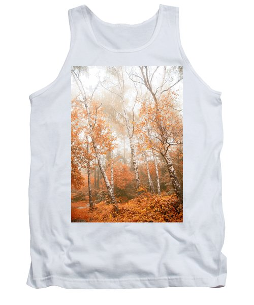Foggy Autumn Aspens Tank Top by Eti Reid