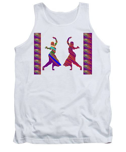Tank Top featuring the photograph Folk Dance Sparkle Graphic Decorations by Navin Joshi