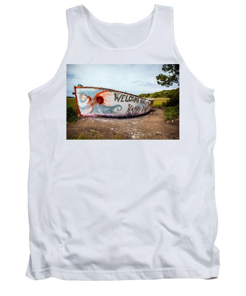 Tank Top featuring the photograph Folly Boat by Sennie Pierson