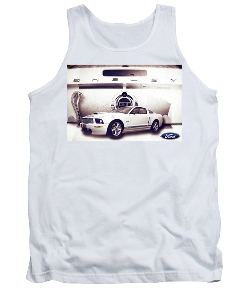 Ford Mustang Shelby Gt  Tank Top by Gray  Artus