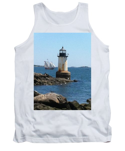 Tank Top featuring the photograph Fort Pickering Light by Denyse Duhaime