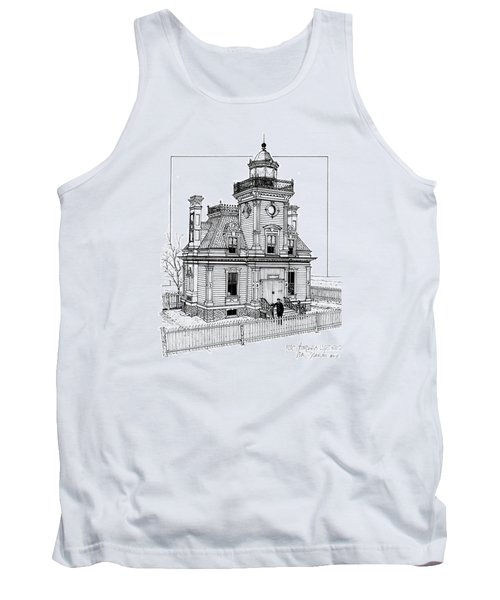 Fort Tompkins Lighthouse Tank Top by Ira Shander
