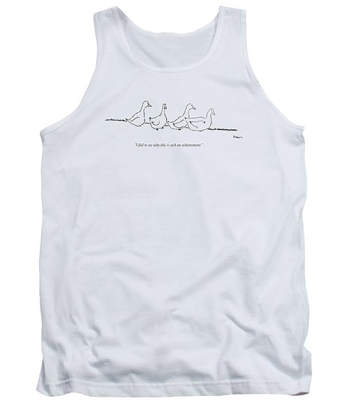 Four Ducks Stand In A Row Tank Top