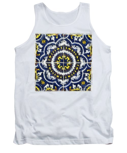 Four Painted Tiles-mexico Tank Top by Michael Flood