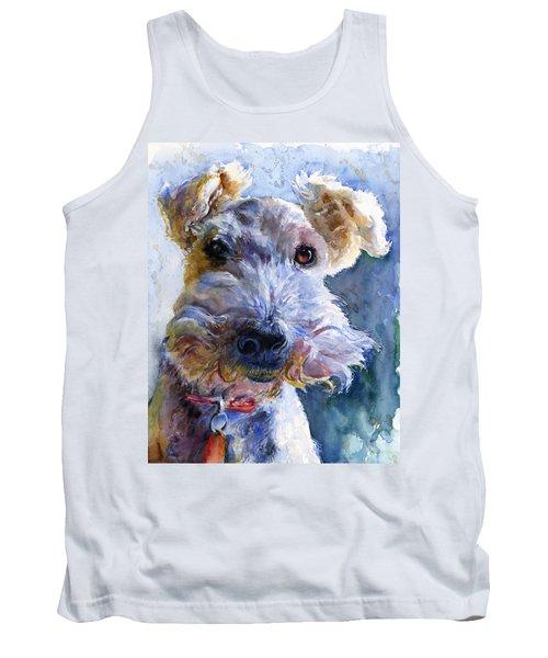 Fox Terrier Full Tank Top by John D Benson