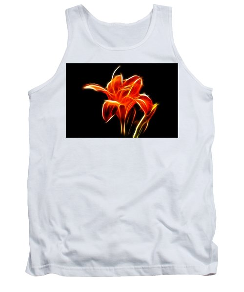 Fractaled Lily Tank Top by Bill Barber