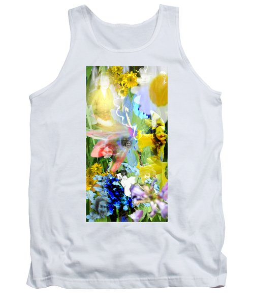 Tank Top featuring the digital art Framed In Flowers by Cathy Anderson