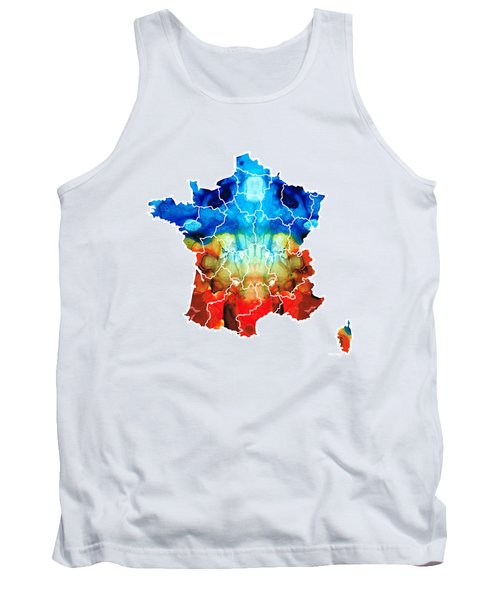 France - European Map By Sharon Cummings Tank Top