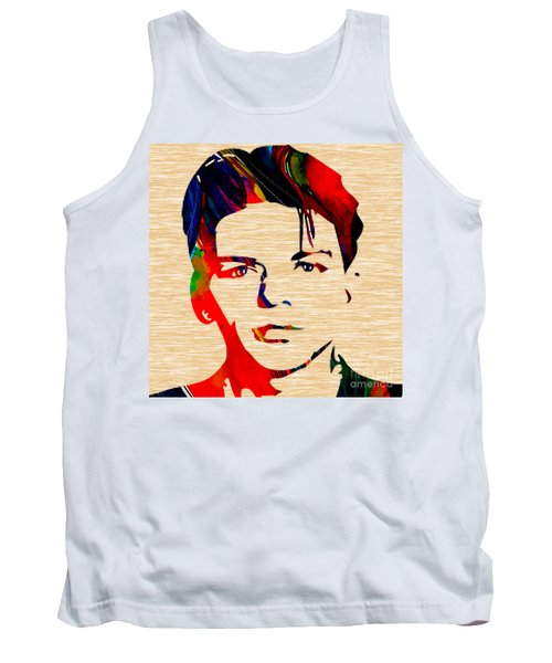 Tank Top featuring the mixed media Frank Sinatra Art by Marvin Blaine