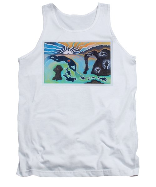 Free Man Off Of Pirates Cove Tank Top