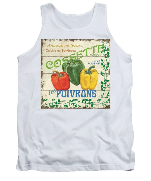 French Veggie Sign 4 Tank Top