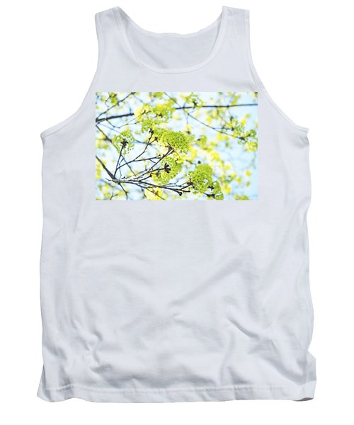 Tank Top featuring the photograph Fresh Spring Green Buds by Brooke T Ryan