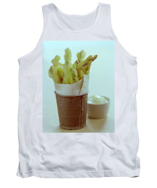 Fried Asparagus Tank Top by Romulo Yanes