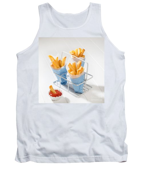 Fries Tank Top by Amanda Elwell