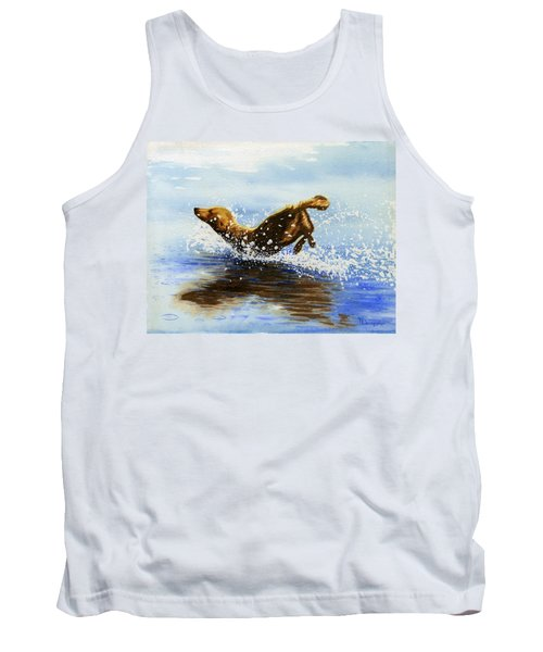 Frolicking Dog Tank Top