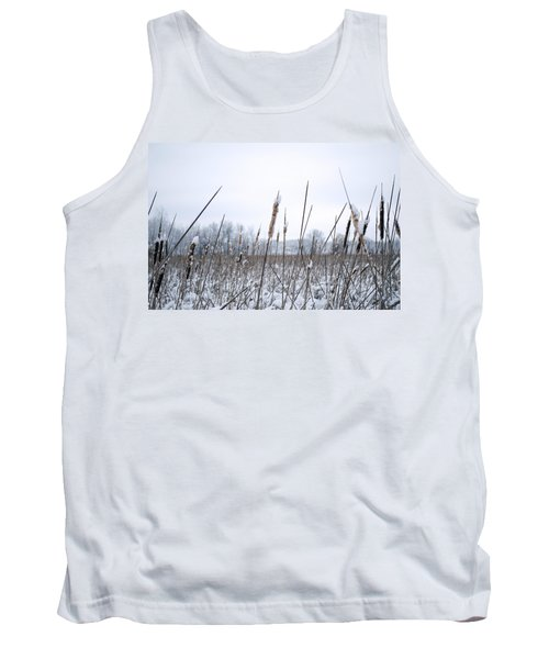 Frosty Cattails Tank Top
