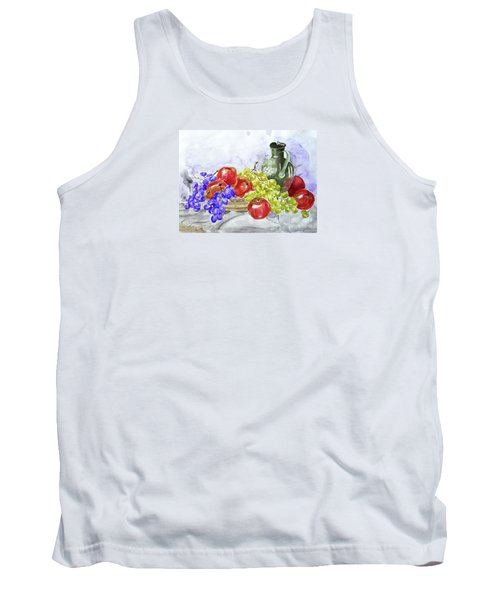 Tank Top featuring the painting Fruit After Him by Jasna Dragun