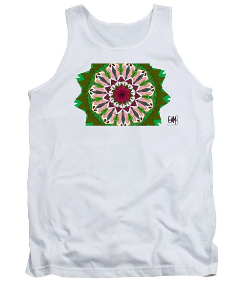 Tank Top featuring the digital art Garden Party by Elizabeth McTaggart