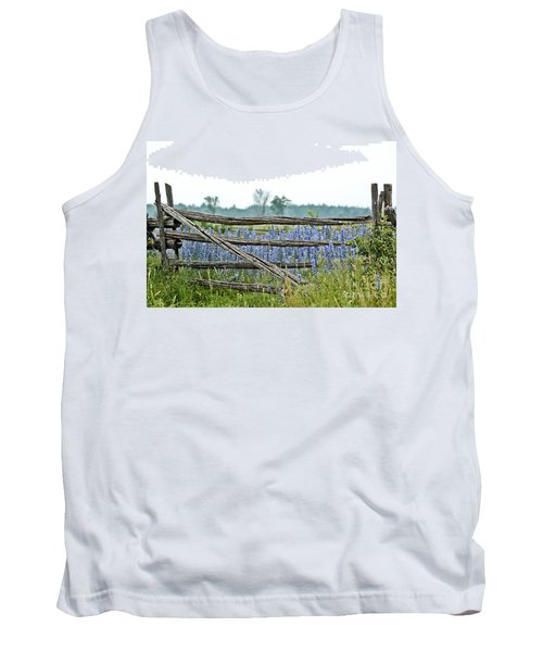Gate To Blue Tank Top by Cheryl Baxter
