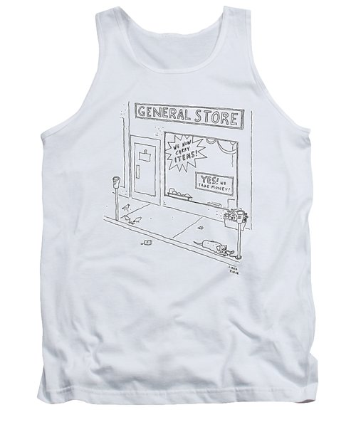 General Store Features Signs 'yes Tank Top