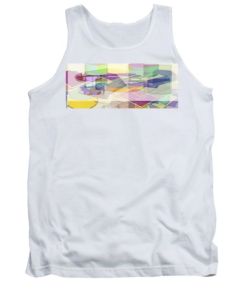 Tank Top featuring the digital art Geo-art by Cathy Anderson